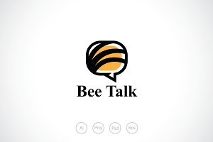 Bee Forum Talk Logo Template