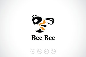 Bee Buzz Logo Template
