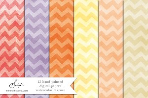 Watercolor Paper, Chevron
