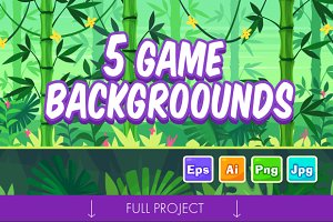 5 Game Seamless backgrounds #3