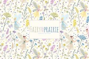 Fairy on the Prairie Vector Patterns