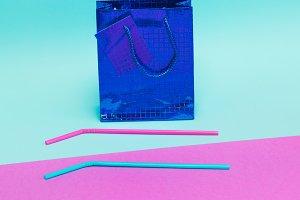 Celebration bag with straws