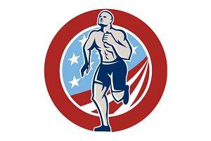 American Fitness Runner Running