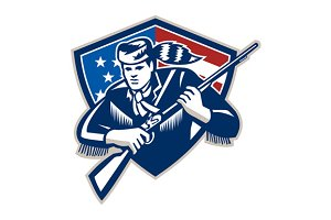 American Frontiersman Patriot St