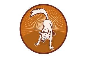 Wild Dog Wolf Retro