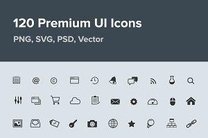 120 Premium UI Icons
