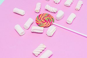 chaotic scattered sweets
