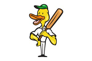 Duck Cricket Player Batsman Stand