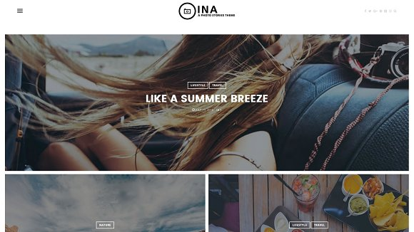 INA - A Photo Stories Blog Theme
