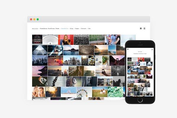 WordPress Photography Themes: ThemeBeans - Bricks WordPress Theme
