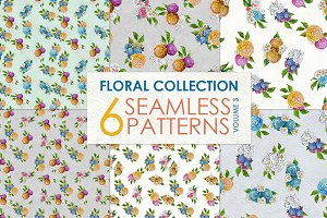 Watercolor rose patterns Vol 3