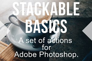Stackable Photoshop Actions Set