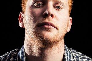 Serious redhead