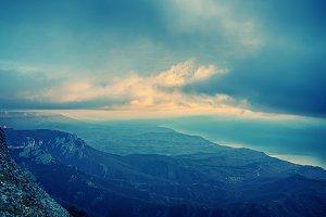 Sea cloudy sunrise