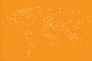 Orange map white borders