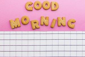 """""""Good morning"""" inscription"""