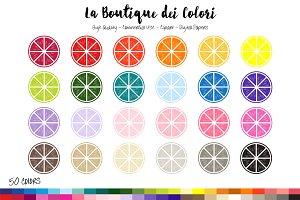 50 Rainbow Citrus Clip Art