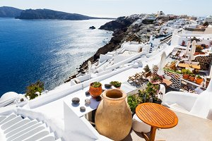 Sea view in Oia, Santorini, Greece