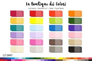 50 Rainbow Eraser Clip Art