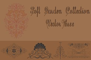 Soft Garden Collection Vector Three