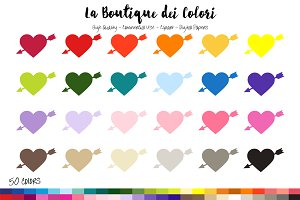 50 Rainbow Heart Clip Art