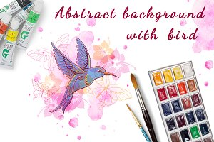 Abstract background with bird