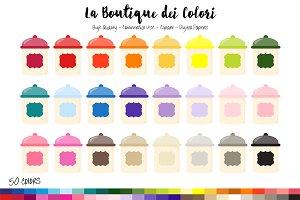 50 Rainbow Jar Clip Art