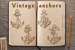 Vintage anchors