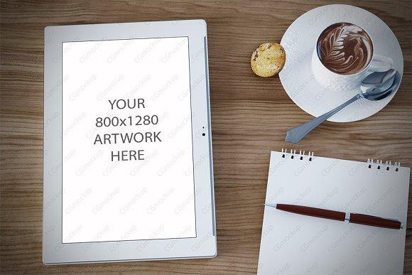 Styled desktop tablet mockup