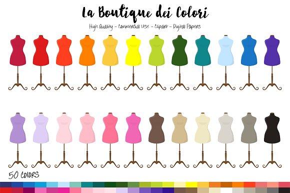 50 Rainbow Mannequin Clip Art