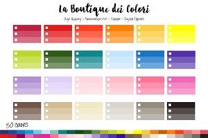 50 Rainbow Ombre Checklist Clip Art