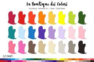 50 Rainbow Oven Glove Clip Art