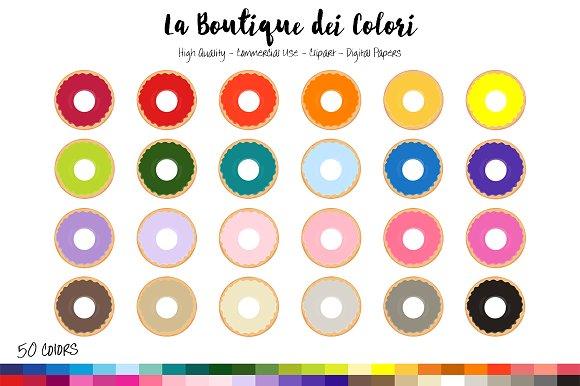 50 Rainbow Doughnut Clip Art