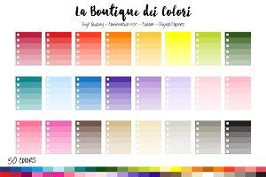 50 Rainbow Planner Checklis Clip Art