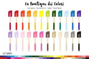 50 Rainbow Spatula Clip Art