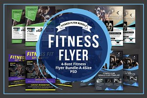Body Fitness Gym Flyer Bundle
