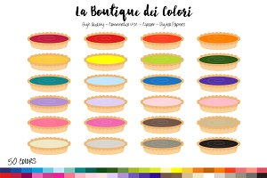 50 Rainbow Tart Clip Art