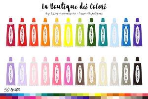 50 Rainbow Toothpaste Clip Art