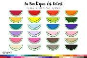 50 Rainbow Watermelon Clip Art