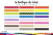 50 Rainbow Weekend Flag Clip Art