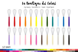 50 Rainbow Whisk Clip Art