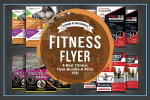Fitness / Gym Flyer Bundle Template