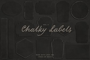 Elegant chalk labels