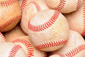 Pile of Old Baseballs
