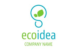 Logo ecologic idea icon