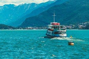 Ferry on Lake Como, Italy