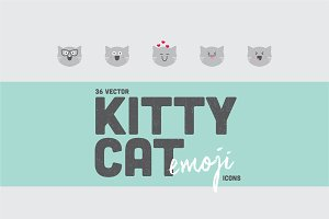 36 Kitty Cat Emoji Icons
