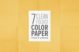 7 Clean Folded Color Paper Textures