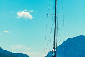 Sail Boat on Lake Como, Italy