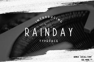 Rainday Typeface Font + Bonus
